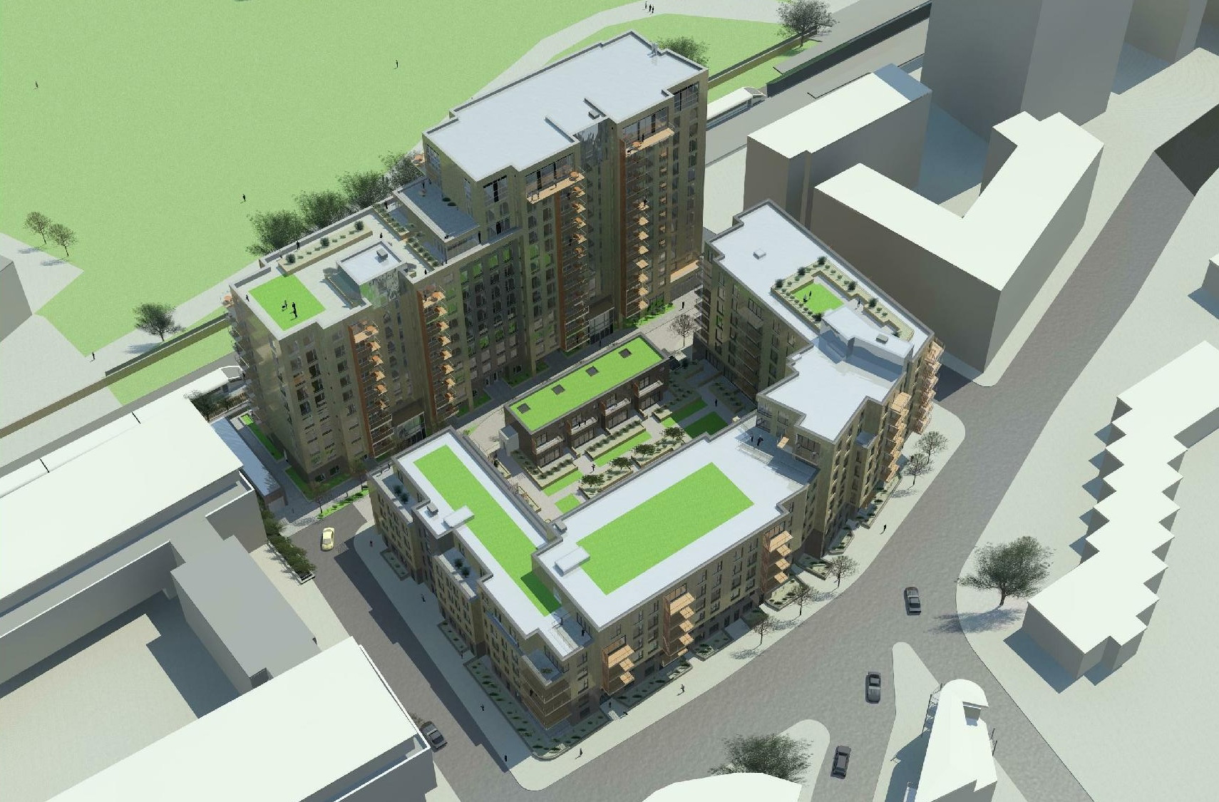 London Dockland apartment scheme submitted for Planning Approval