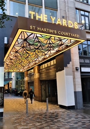 Our new entrance canopy completed on Upper St. Martin's Lane